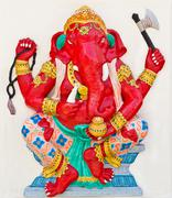 Indian or hindu god named dhundhi ganapati Stock Photos