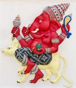 Indian or hindu god named sarisati ganapati Stock Photos