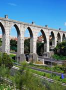 Aqueduct of the free waters Stock Photos