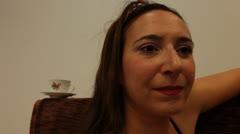 Portrait of Barmaid Stock Footage