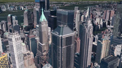 aerial view of New york building,spectacular city landscape. - stock footage