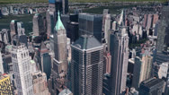 Stock Video Footage of aerial view of New york building,spectacular city landscape.