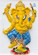 indian or hindu god named naritaya ganapati - stock photo