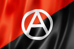 anarchy flag - stock illustration