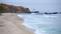 Time Lapse of Northern California Coast Beach Ocean - stock footage