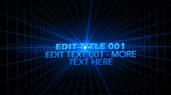 Space Grid Text Stock After Effects