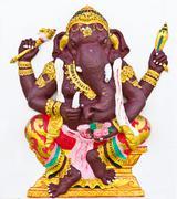 indian or hindu ganesha god named kasipra ganapati - stock photo