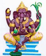 indian or hindu ganesha god named bala ganapati - stock photo