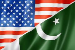 Usa and pakistan flag Stock Illustration