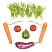 Stock Photo of happy face with vegetables