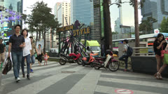 Gangnam Style stage in Gangnam Stock Footage