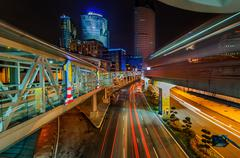 Night Traffic At Kuala Lumpur - stock photo
