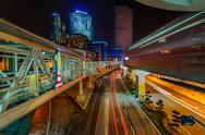 Stock Photo of Night Traffic At Kuala Lumpur