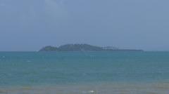 Small secluded island used for experiments Stock Footage