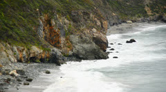Big Sur California Coast Beach Scene - stock footage