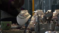 jewels stall - stock footage