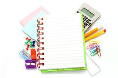 stationery items - stock photo