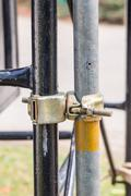Swivel scaffolding clamp Stock Photos