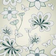 Stock Illustration of Seamless floral pattern. Vector