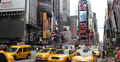 Ultra HD 4K Times Square, Manhattan, New York City, Yellow Cab Taxi, Car Traffic Footage