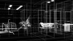Abstract animation interior of the grid Stock Footage