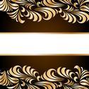 Gold floral background. Vector Stock Illustration