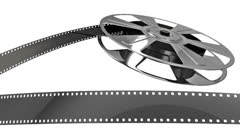Film Reel Loop with Alpha Matte Stock Footage