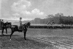 WW1 - Cavalry and infantry - stock photo