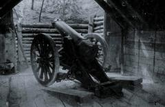 WW1 - Artillery emplacement - stock photo
