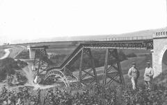 WW1 - Railway panorama - stock photo