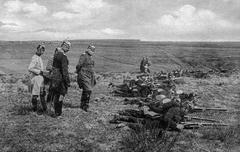 WW1 - Prussian infantry - stock photo