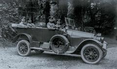 WW1 - Car with officers - stock photo