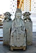 wat arun statue - stock photo