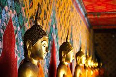 Buddha statue at wat arun bangkok thailand. Stock Photos