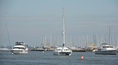 Boats in the Chesapeake Bay, Annapolis Stock Footage