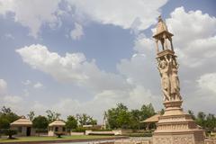 nareli jain temple under sky - stock photo