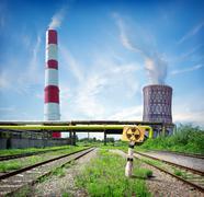 Nuclear reactor - stock photo