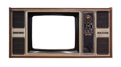 Old television isolated Stock Photos