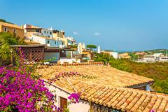 Stock Photo of view over roofs, houses, apartments, village