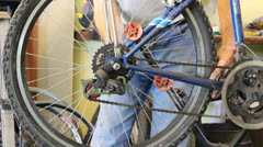 Bike repairing Stock Footage