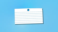 Blank Note With Thumbtack, Alpha Included Stock Footage