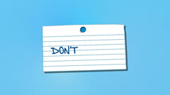 Don't Forget Reminder Note With Thumbtack, Alpha Included Stock Footage