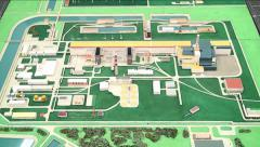 Model of of the Chernobyl nuclear power plant. Stock Footage