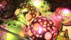 christmas balls in shop - stock footage