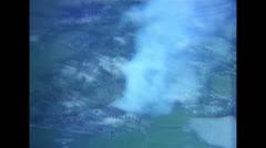 Vietnam War - Aerial Shots of Vietcong Village Stock Footage