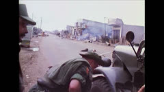 Vietnam War - Saigon - American and ARVN firing Stock Footage