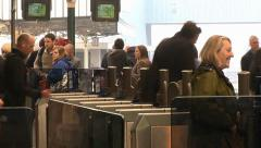 Ticket Barrier Time Lapse Stock Footage