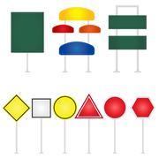 road-signs-vector-illustration - stock illustration