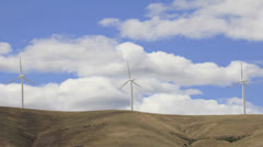 Wind Turbines in Goldendale, Washington 1920x1080 Stock Footage