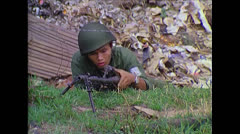 Vietnam War - Saigon - ARVN Leaving Position Stock Footage